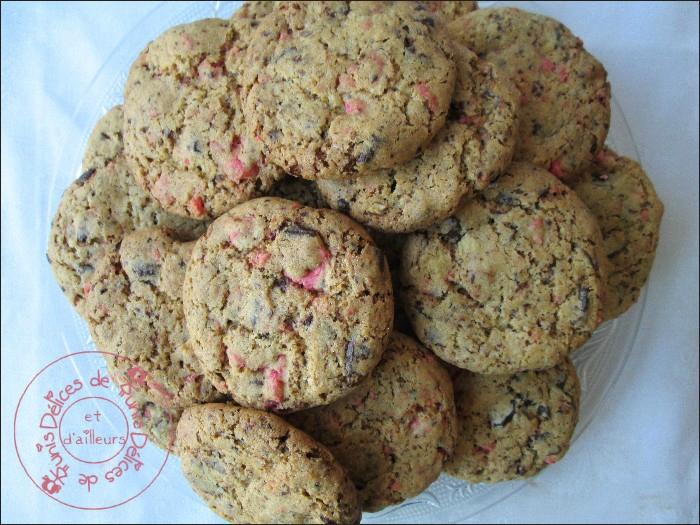 cookies chocolat - pralines roses 2