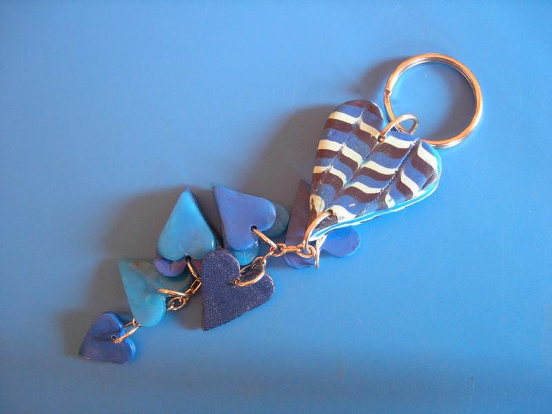 Porte clé en pâte fimo, fabriqué par Morgane, 11 ans (vue 2)
