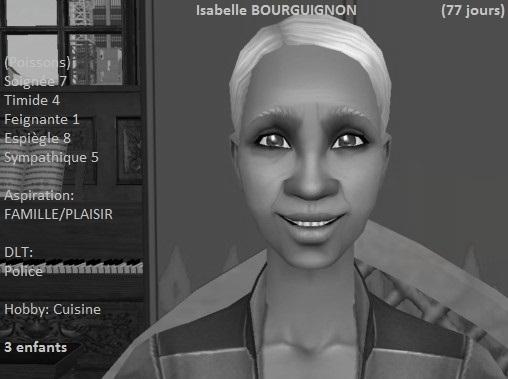 Isabelle Bourguignon (77 jours)