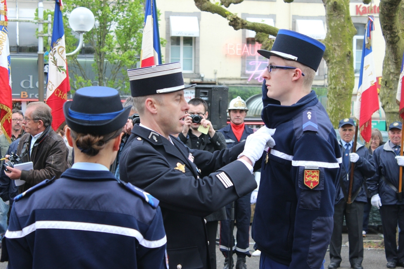 Corentin Dumesnil gendarme adjoint médaille de bronze Défense Nationale Arnaud Beltrame Avranches 8 mai 2014