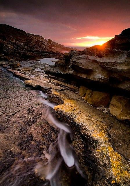 riviere couche soleil