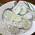 Concombre à la crème et sumac