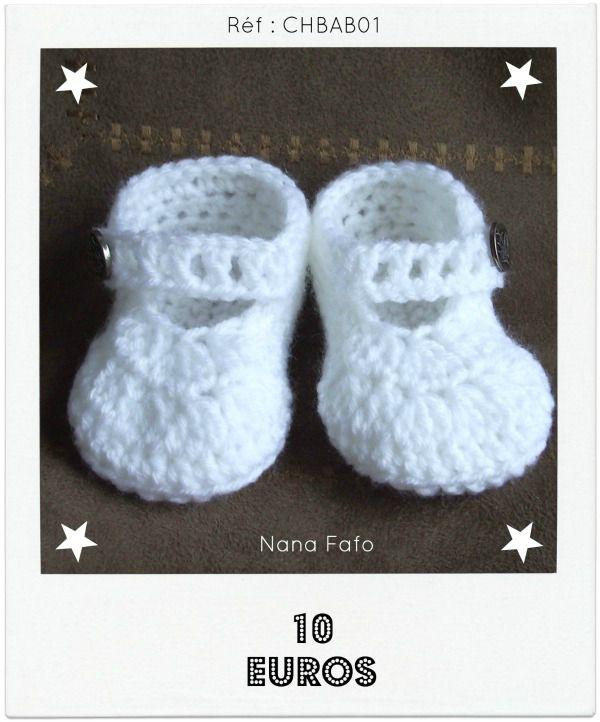 Chaussons bébé crochet babies 01
