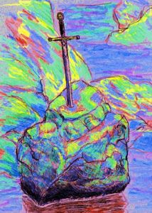 Excalibur et le rocher - par David Lavallée - novembre 2011