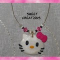 Collier pendentif Kitty