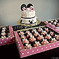 {sweet table minnie mouse rose} cupcakes minnie mouse et wedding cake minnie mouse pink