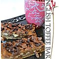English toffee bars