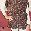 Tunique j mag fait main fevrier 2012, tissu coton