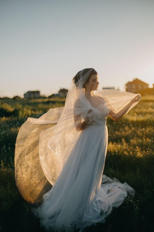 voile de mariée long