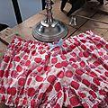 Culotte-shorty Bianca en Liberty véritable fleuri rouge orangé et ciel (1)