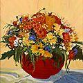 Bouquet champêtre - 35 x 27 - janvier 1996