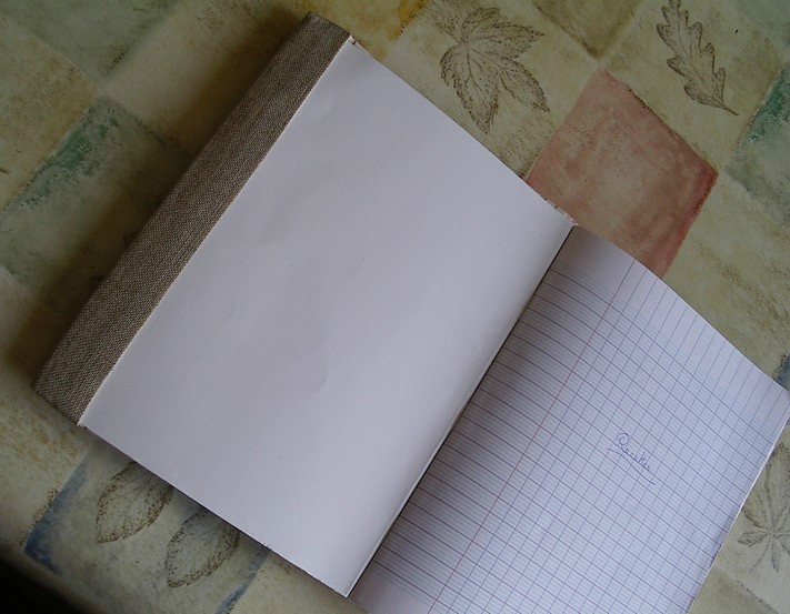 cahier recette brode ouvert