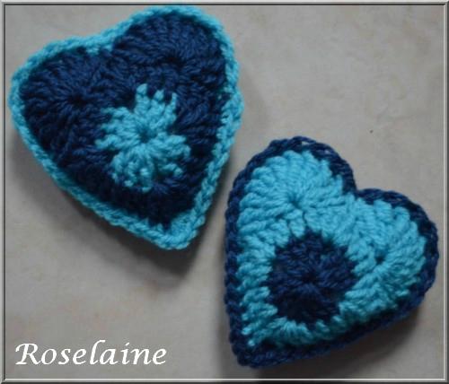 Roselaine 15 crochet coeur bleu