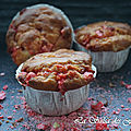Muffins pommes pralines roses