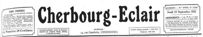 Cherbourg Eclair 1935_1