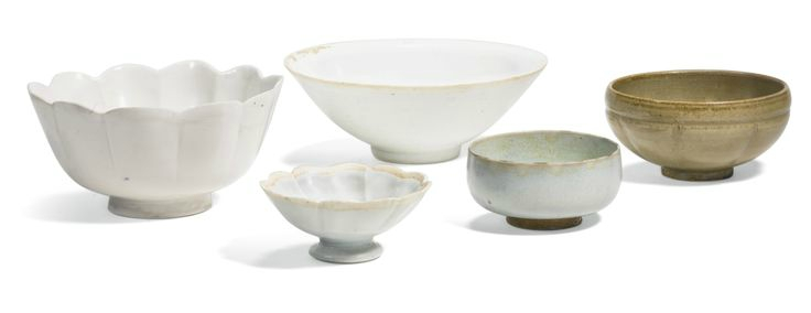 A group of five Song wares, Song dynasty