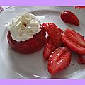 Aspic aux fraises