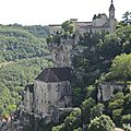 Rocamadour, le château, sanctuaires, falaise (46)