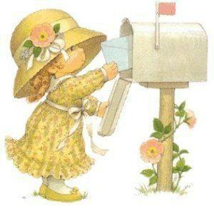 fillette au courrier