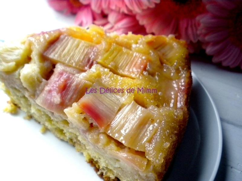 Gâteau à la rhubarbe, façon tatin 6