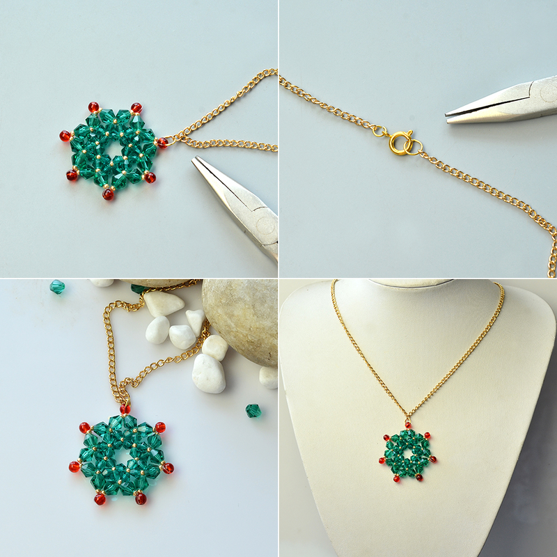 Instructions-on-Making-Glass-Bead-Stitch-Flower-Pendant-Necklace-4