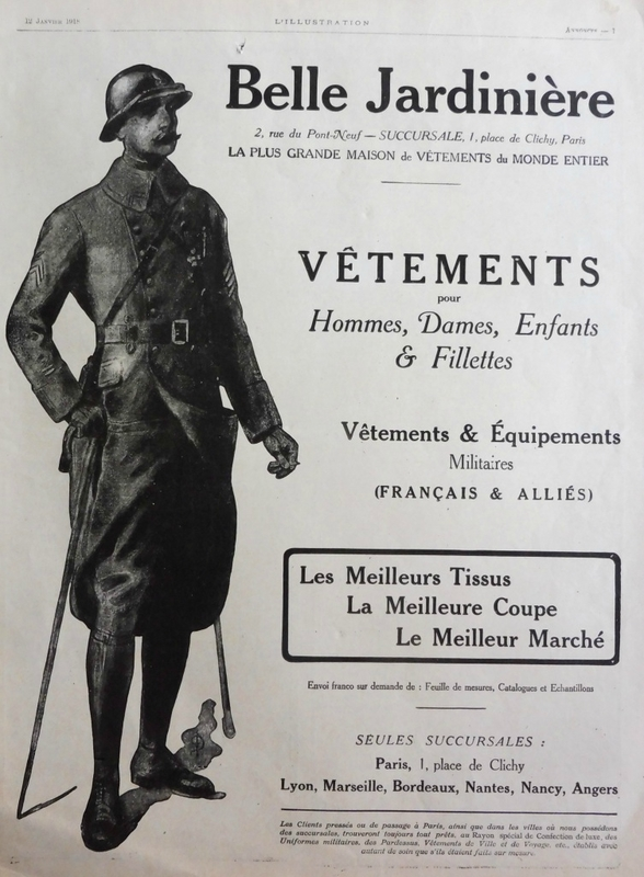 Publicité La Belle Jardinière, L'illustration 12 janvier 1918