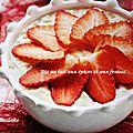 Riz au lait aux épices et aux fraises