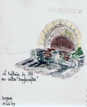 Fontaine du Plo -Conques- aveyron
