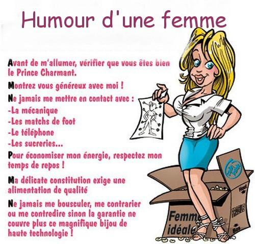 humour femme
