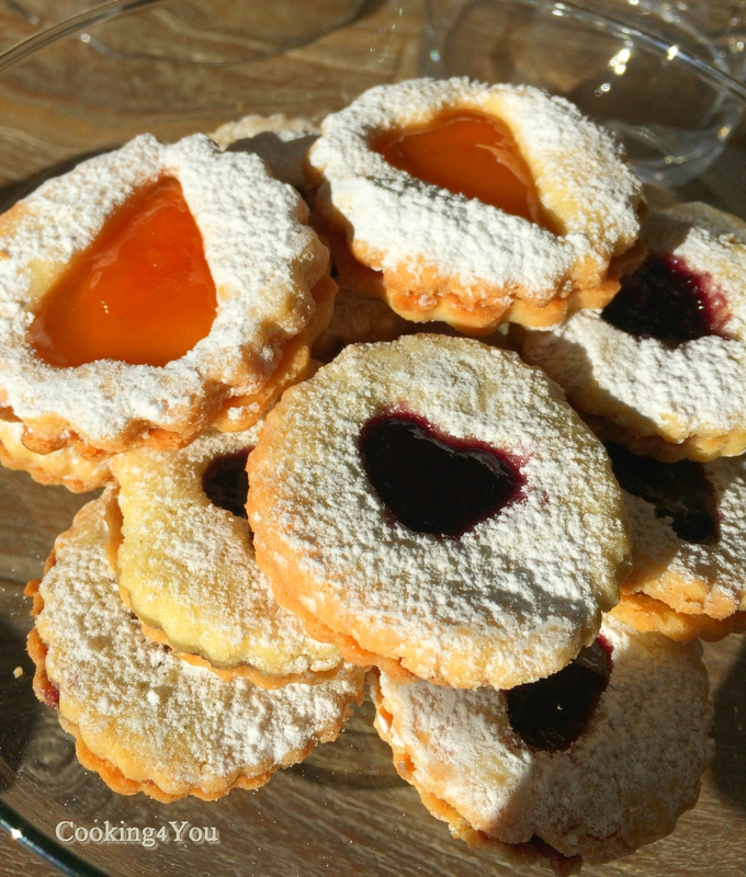 Biscuits Linzer Abricots & Framboise