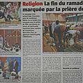 Revue de presse du jour - prière el-fitr dans deux salles du quartier drouot