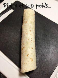 Wrap jambon fumé-chèvre montage 4