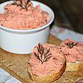 Tartinade de saumon fumé au mascarpone et à l'aneth