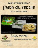 Affiche Salon du reptile et de la terrariophilie La Penne sur Huveaune