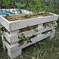 Des jardinières pour les fraises en récup de palettes