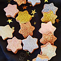 Glitter star cookies