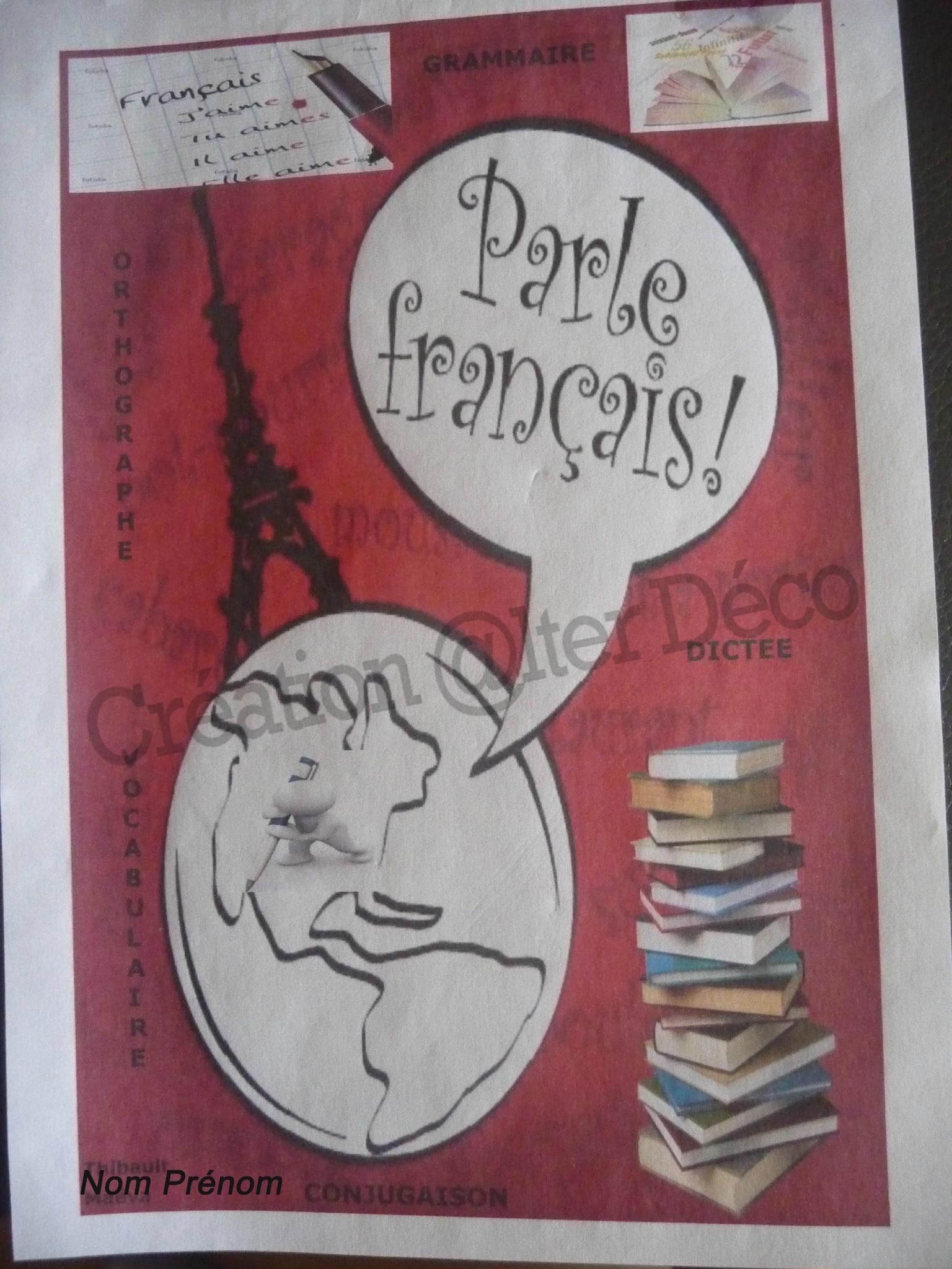 Page De Garde Français Photo De Conception De Documents