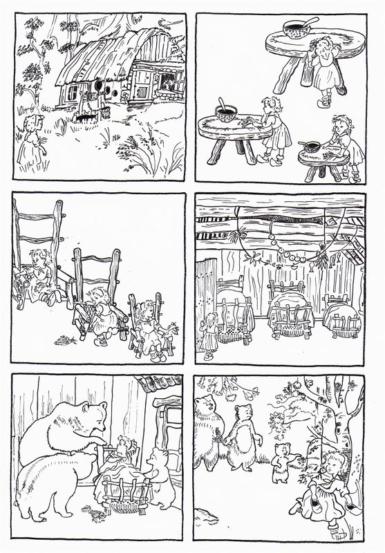 6 Images Séquentielles De Boucle Dor Et Les Trois Ours Daprès