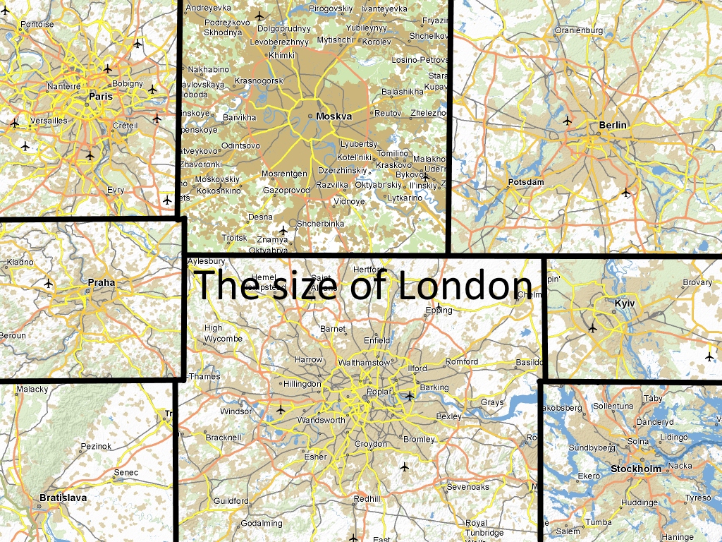 european city size