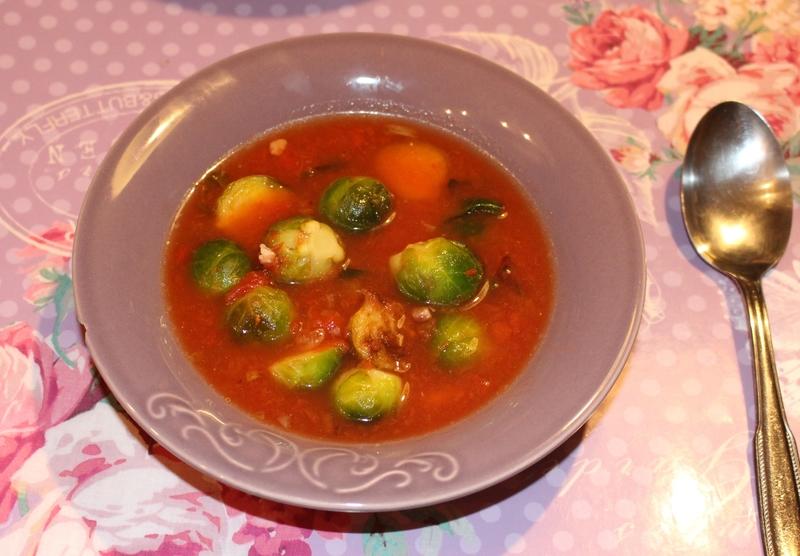 soupe de choux bruxelles tomates