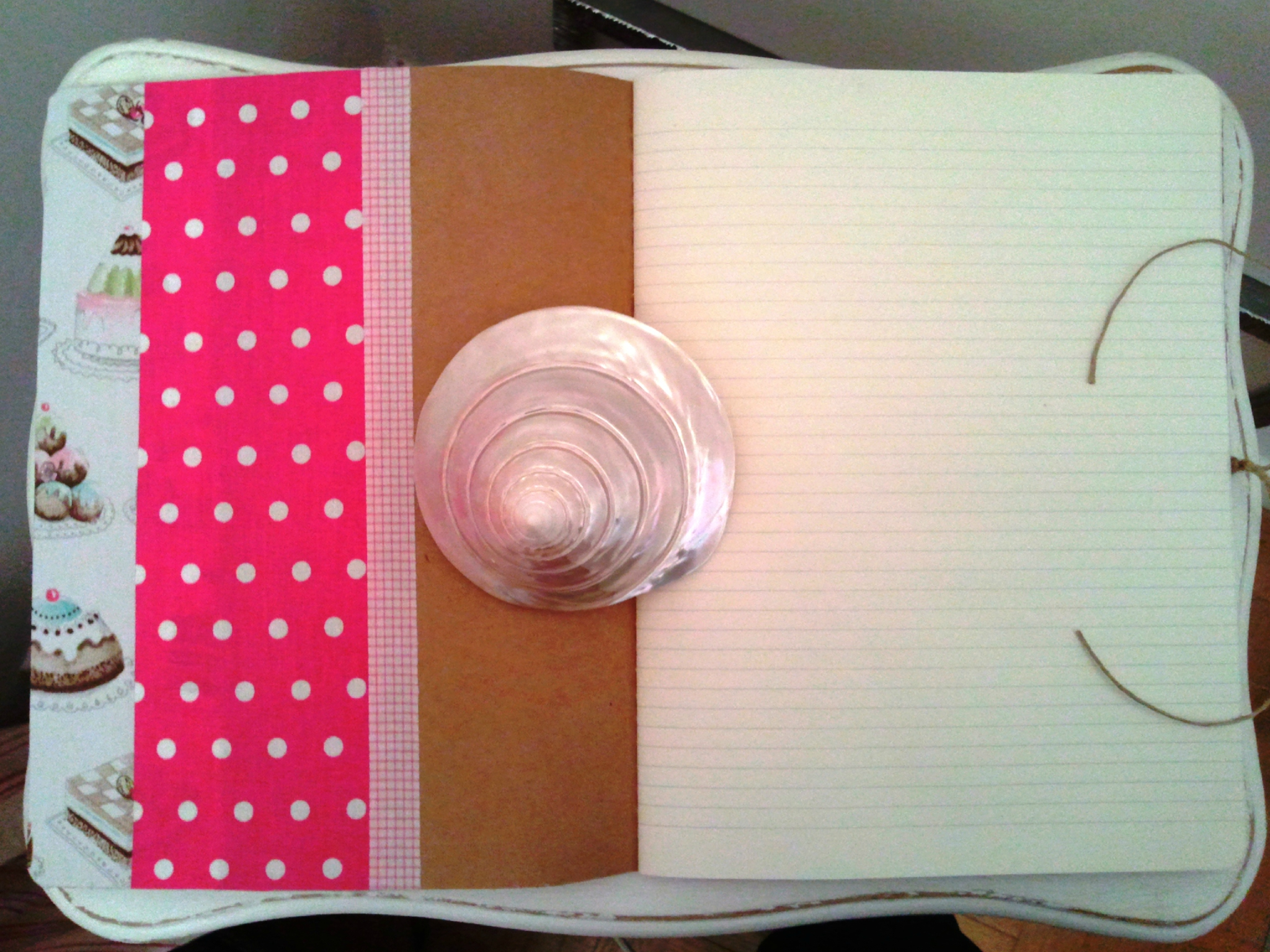 Cahier Gourmand gateaux pois roses