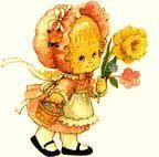 fille avec fleur