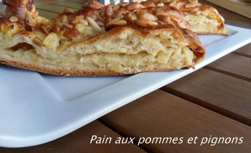 Pain aux pommes et pignons3
