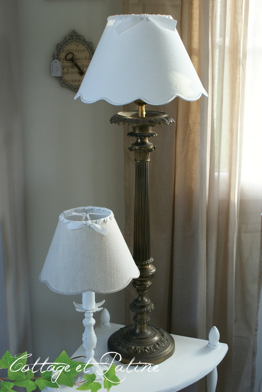 Cottage et Patine lampe ref 4