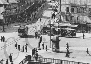 CPA Tramway 1906 Place Corbis CCTB