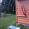 La douche solaire à l' extérieur