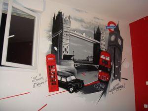 Decoration Chambre D Enfant Sur Le Theme De Londres Enrage