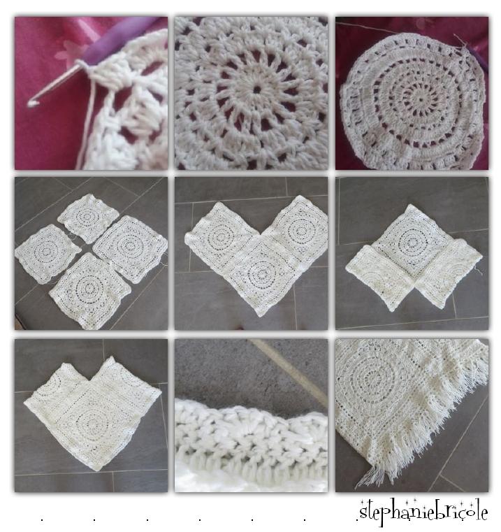 poncho crochete
