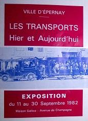 Les transports hier et aujourd'hui, ville d'Epernay