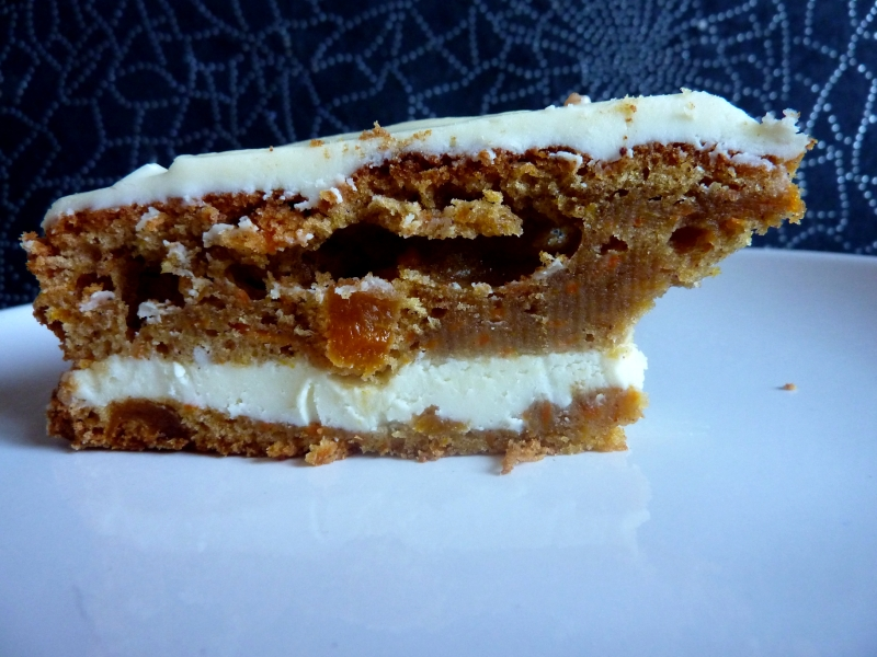 *Carrot cake et son nappage au chocoalt blanc